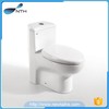 Pedestal ceramic toilet bowl with PP cover