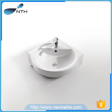 Ceramic wall mount custom made sizes small corner wash basin