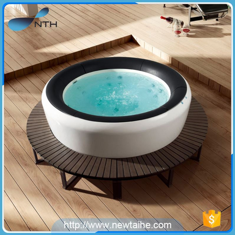 NTH best price fashion ISO9001 ivory spa hot tub for 2 people