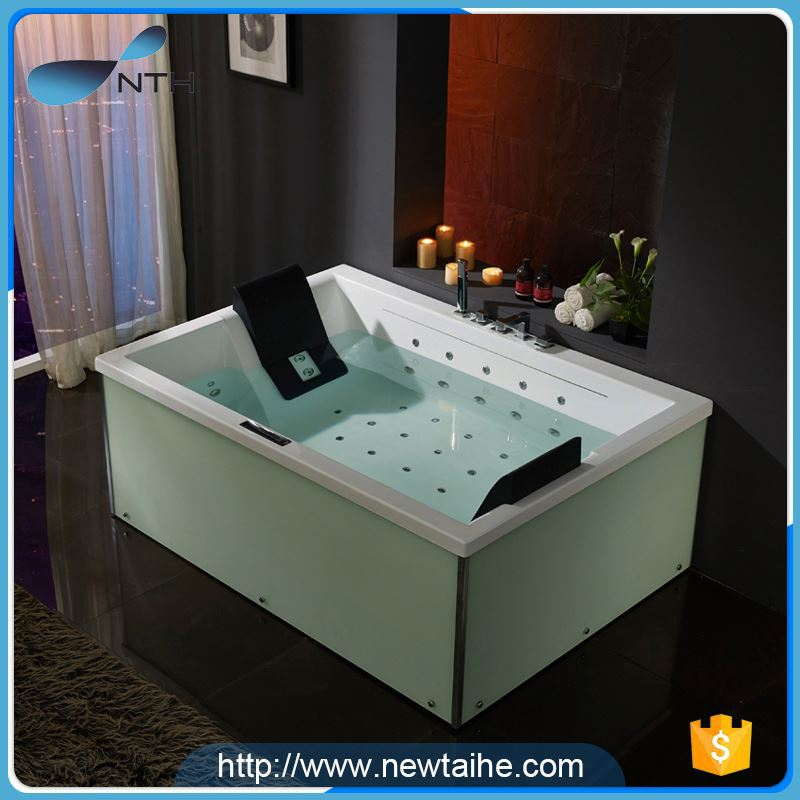 NTH made in china low price ISO ivory double hot tub