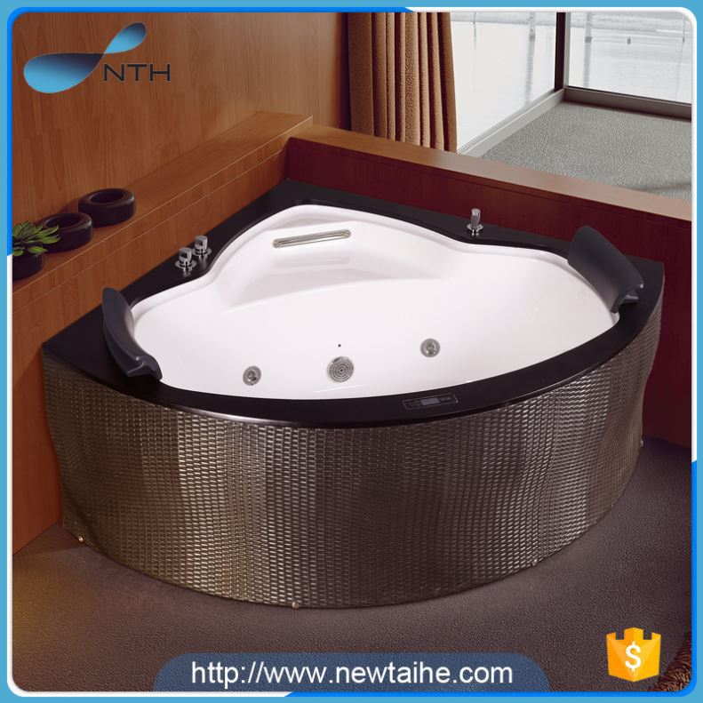 NTH alibaba china supplier portable hotel sectorial hot tub with cd player backrest