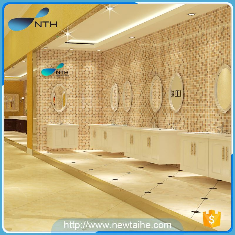 NTH novelty products cheap washroom ivory square bathtub free standing with under water light