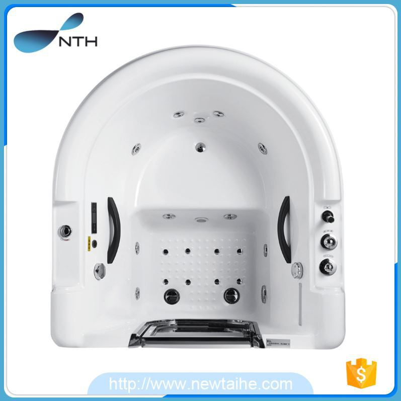 NTH online shop beauty hotel walk-in galvanized steel bathtub with radio and speaker