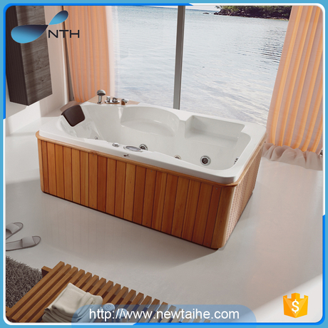 NTH wholesale japanese small portable cheap price wooden shell bathtub