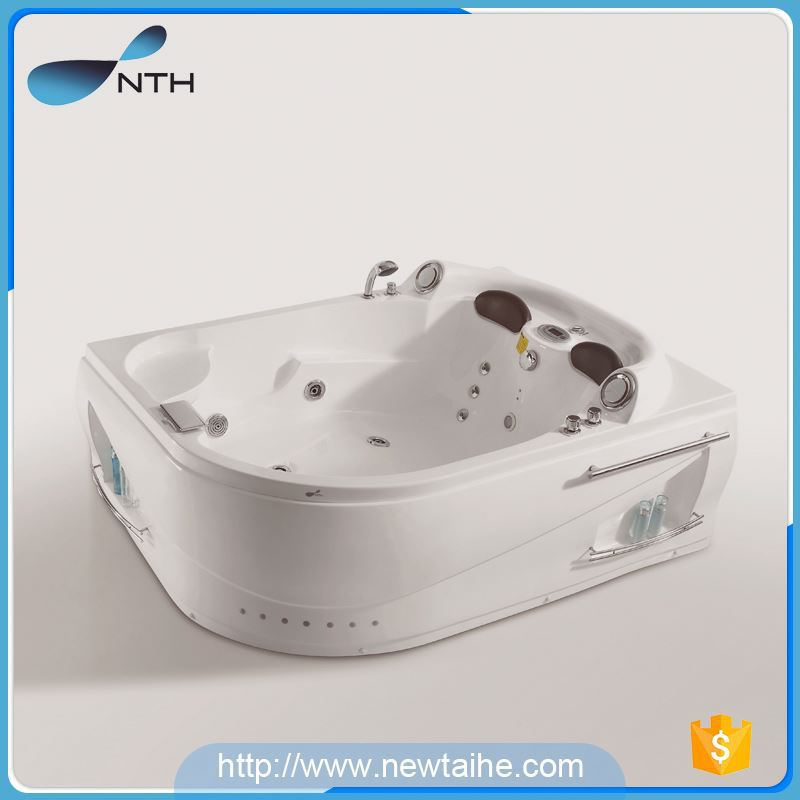 NTH new products 2017 innovative product environmental hotel 2 adult access tubs mini bathtub with nozzle massage