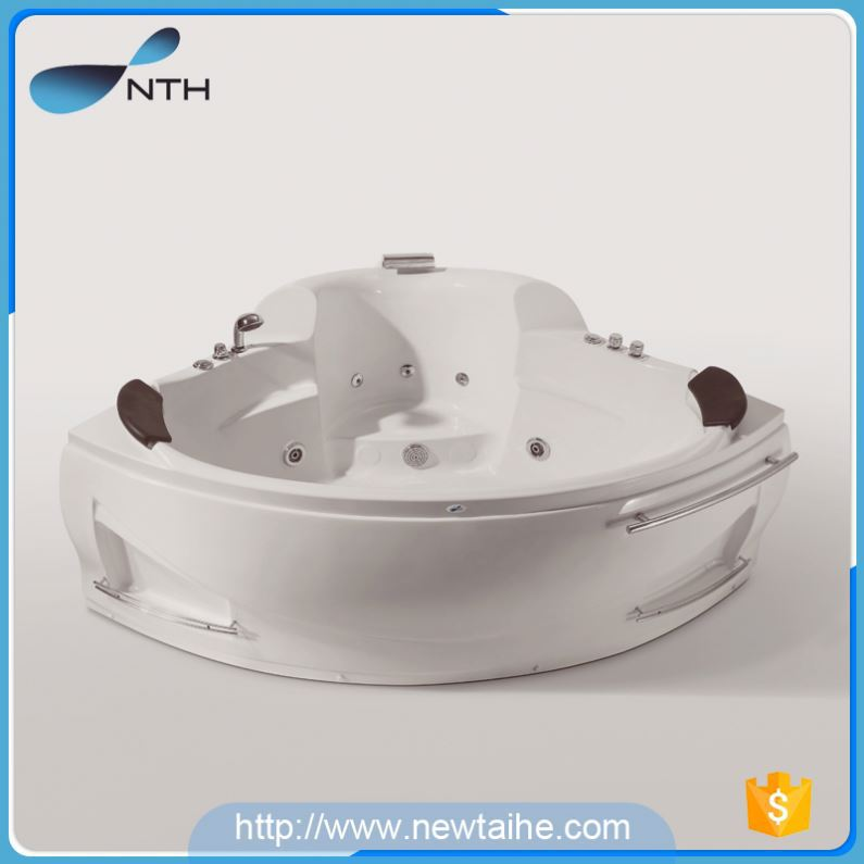 NTH hot selling products luxury holiday house 2 adult cheap acrylic clawfoot bathtub with O3 system