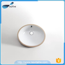 Ceramic under counter round sinks basin lavabo