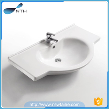 Ceramic embedded bathroom cabinet corner wash basin