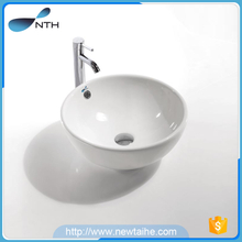 Round countertop ceramic washing basin
