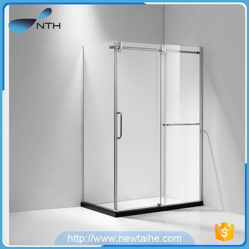 NTH new product cheap corner walk in apollo glass enclosed indoor portable bathroom shower