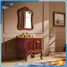 Wood antique waterproof bathroom cabinet