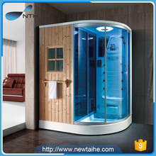 Wooden home use steam shower sauna combos steam sauna