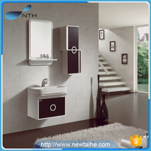 Acrylic solid wood pvc bathroom cabinet