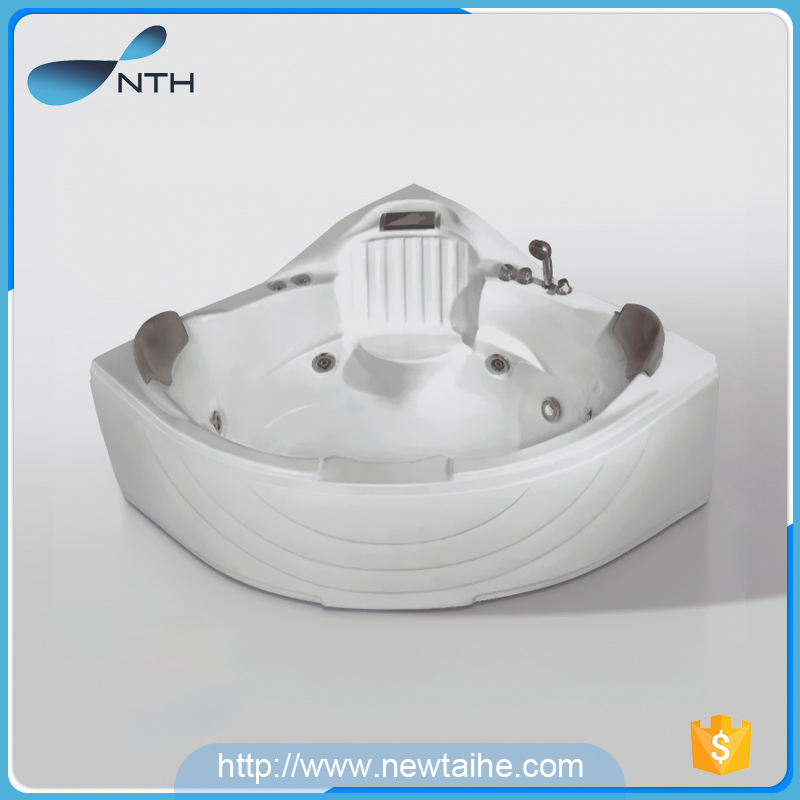 Two person spa corner self cleaning bathtub