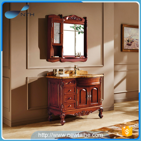 Solid wooden bathroom cabinets